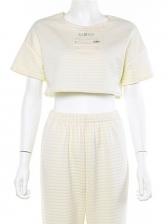 Fashion Short Sleeve Cropped Printed t Shirt