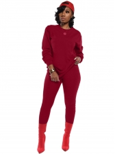 Classic Pure Color Long Sleeve Two Piece Outfits