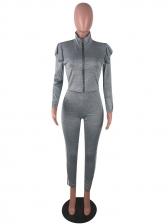 Side Stripe Zipper Up Long Sleeve Ladies Tracksuits