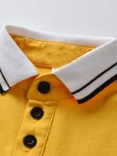 Turndown Collar Short Sleeve Baby Romper Dress