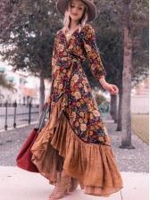 Bohemian Vintage Print Women Maxi Dresses