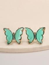 Street Colorful Cu Butterfly Earrings