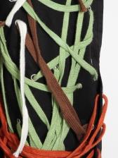 Colorful Strings Lace Up Boutique Cargo Pants