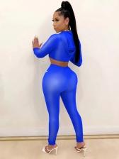 Contrast Stripe Long Sleeve Skinny Womens Tracksuits