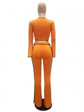 Fashion Flare Sleeve Flare Pants Two Piece Sets
