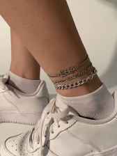 Simple Multilayer Letter Rhinestone Ankles