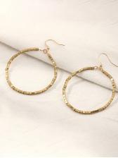 Simple Metal Round Women Earrings