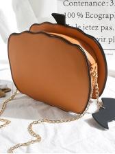 Halloween Chic Pumpkin Chain Shoulder Bag
