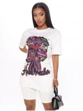 Fashion Beauty Print Two Piece Sets