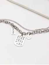 Hip Hop Fashion Letter Double Layer Necklace