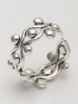 Geometry Personality Opening Adjustable Men Ring