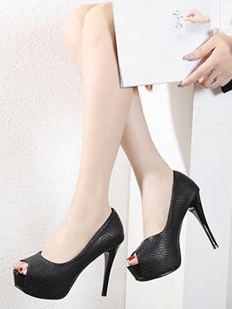 Fashion Stilettos Peep Toe Platform Heels