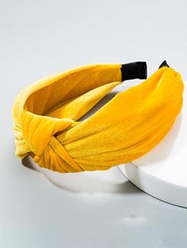 Solid Pleuche Cloth Women Hair Hoop