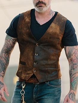 Button Up Casual Men Waistcoat