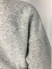 Color Block Lace Up Two Piece Pants Set