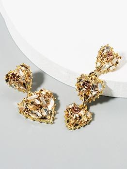 Dissymmetry Heart Vintage Women Earrings