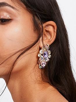 Star Stalker Party Rhinestone Design Earrings