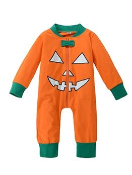 Halloween Pumpkin Cute Sleepsuit For Baby
