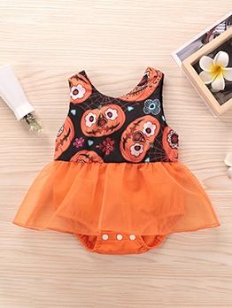 Halloween Camisole Pumpkin Print Dress