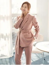OL Style Solid Work Suits For Women