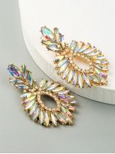 Pineapple Shape Full Rhinestone Luxury Earrings
