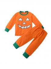 Halloween Crew Neck Children Two Piece Sets