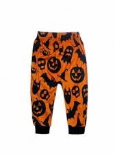 Halloween Letter Print Pumpkin Three Piece Sets