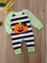 Halloween Contrast Color Pumpkin Sleepsuit