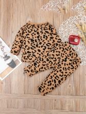 Boys Leopard Long Sleeve Two Piece Sets