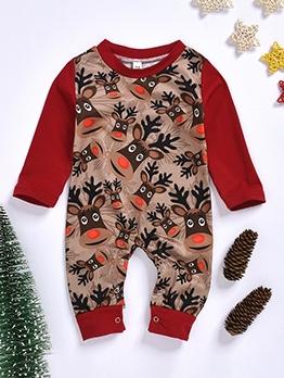 Christmas Animal Print Sleepsuit For Baby