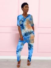 Tie Dye Two Piece Pants Set