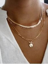 Vintage Punk Style Fashion Layered Necklace