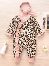 New Leopard Long Sleeve Sleepsuit