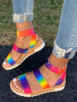 Stylish Colorful Flat Summer Sandals