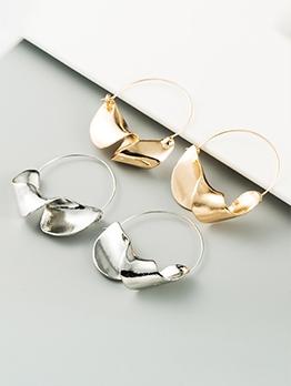 Geometry Solid Flower Basket Shape Earrings
