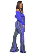 Geometric Print High Waist Suspender Pants 2 Piece Sets
