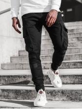 Outdoor Contrast Color Pocket Men Pants