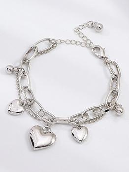 Fashion Simple Heart Silvery Bracelet