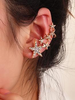 Creative Star Rhinestone Honey Girl Earrings