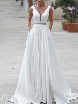 Fashion v Neck Sequins Designer Evening Gowns