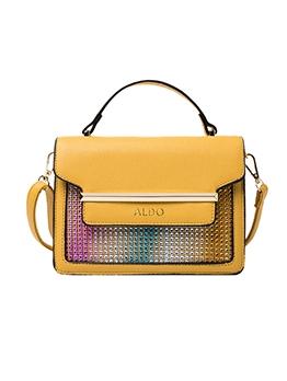 Colorful Rhinestones Patchwork Shoulder Bag With Handle