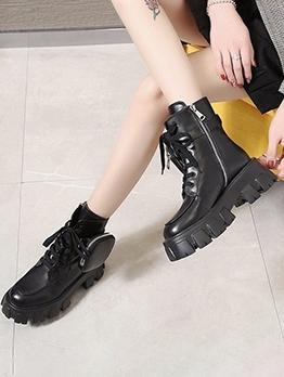 Bag Design Black Platform Boots