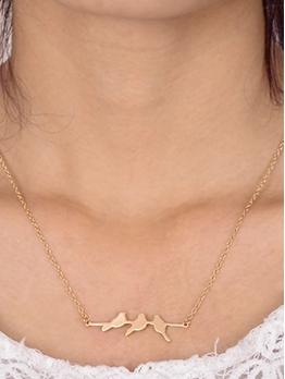 Cute Twig Bird Pendant Necklace For Women