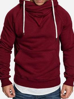 Casual Patchwork Thicken Solid Sweatshirt