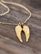 Fashion Angel Wings Street Women Necklace