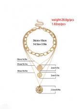 Hip Hop Retro Geometry Cross Layered Necklace
