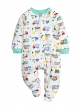 Cute Print Baby Sleepsuits With Zipper