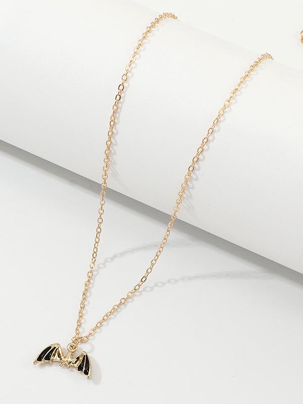 Attractive Design Bat Shape Halloween Necklace