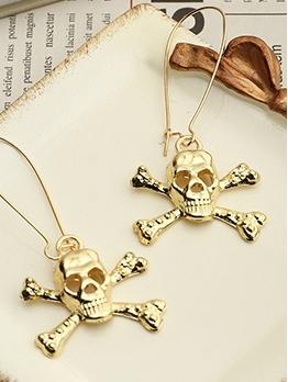 Halloween Whimsy Skull Shape Solid Earrings