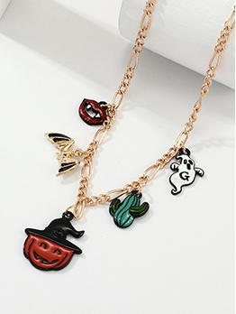Fashion New Style Halloween Pumpkin Necklace